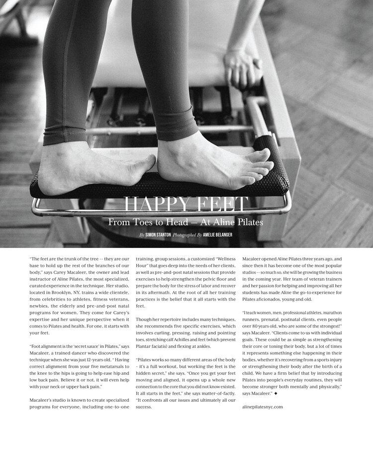 aline pilates happy