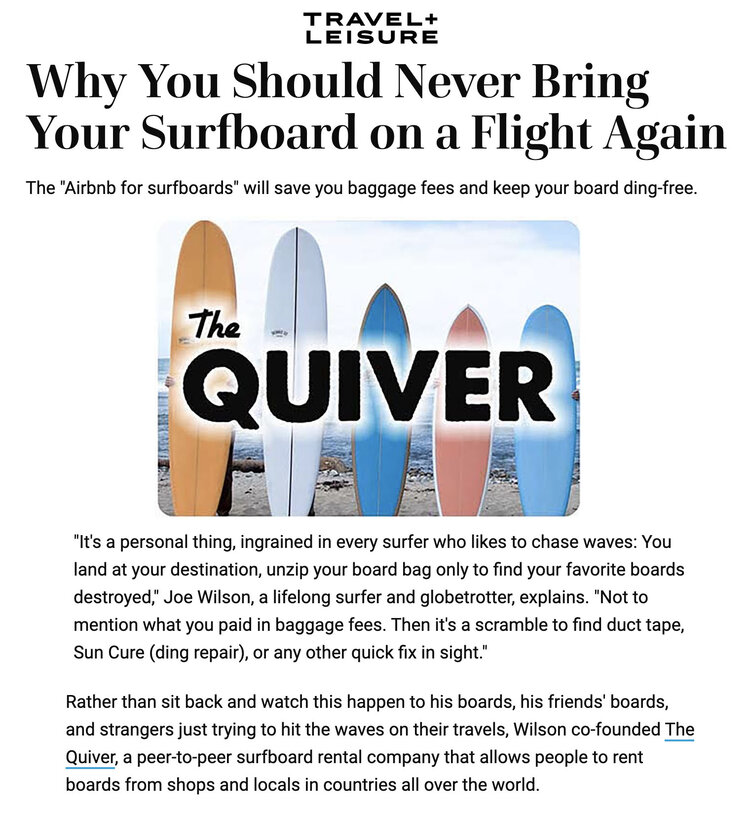 the quiver surfboard