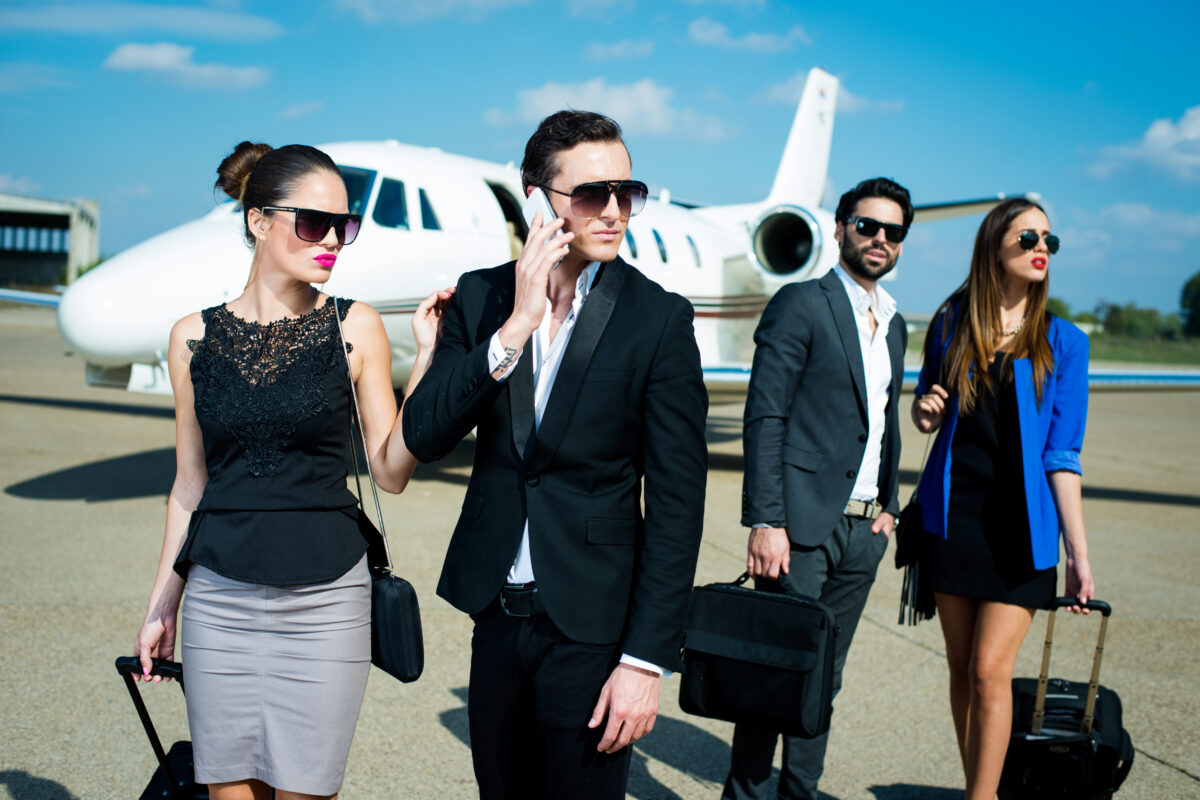 group of rich